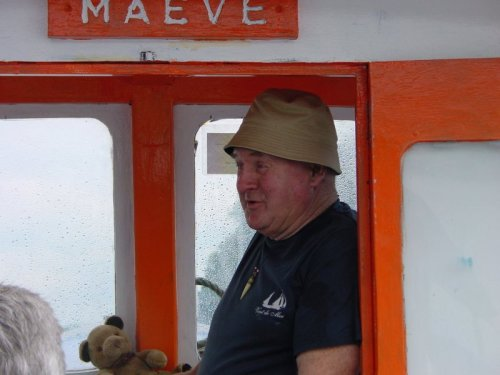 Tony Gallagher himself on his MV Maeve in 2008