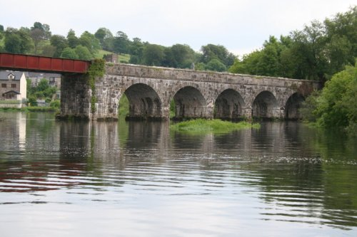 The now-disused railway bridge in Cappoquin