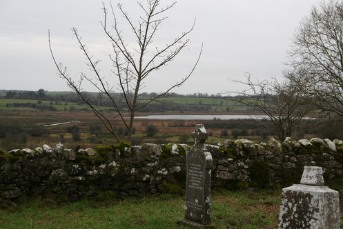 Lough Laure from the old graveyard at Aughrim