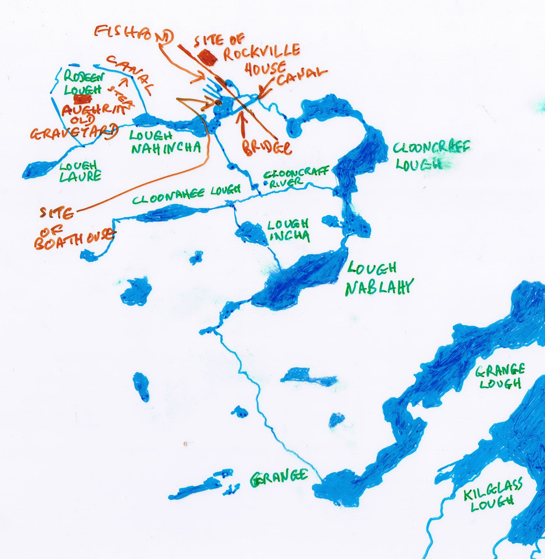 Sketch Map Of Ireland.The Rockville Navigation Page 1 Irish Waterways History