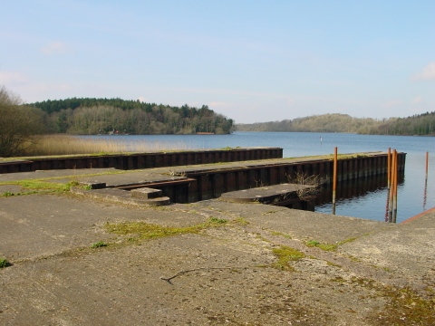 Looking from the flying-boat dock at Castle Archdale. The slipway was further to the left