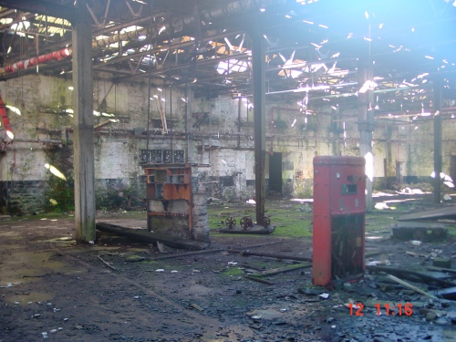 Inside the tannery