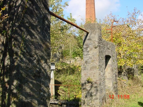 The weaving shed and a chimney