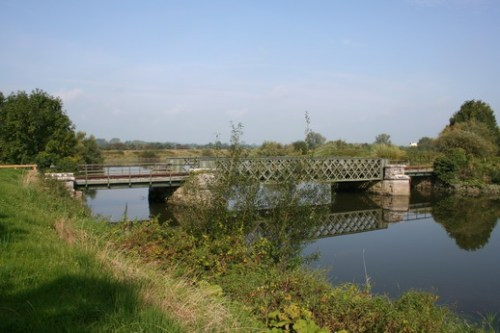 The railway bridge from upstream