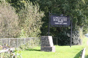 Sign at the lock to Longueville House Hotel ...