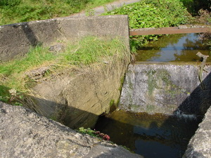 Water flows through it