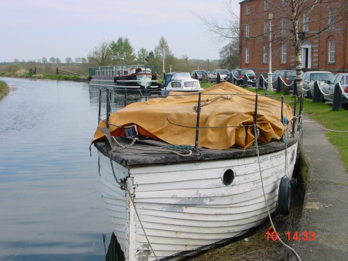 Unidentified wooden boat at Robertstown on the Grand Canal