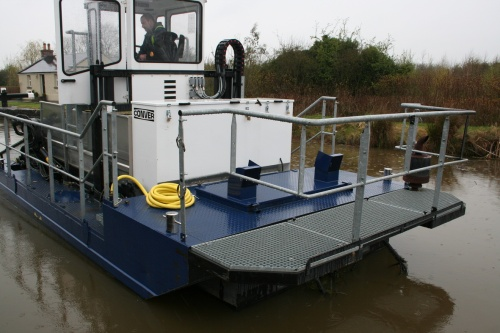 Modern canal weed-boat 2