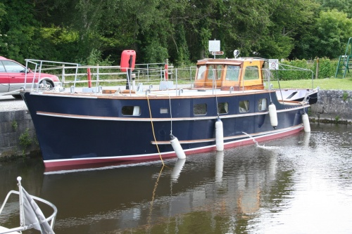 Harklow filling with water at Connaught Harbour, Portumna