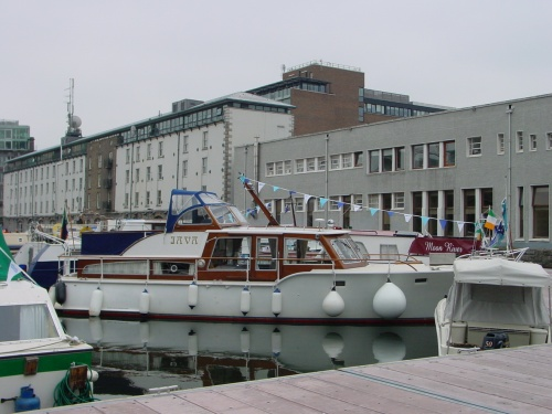 Java (really a sea boat) in Grand Canal Docks, Dublin