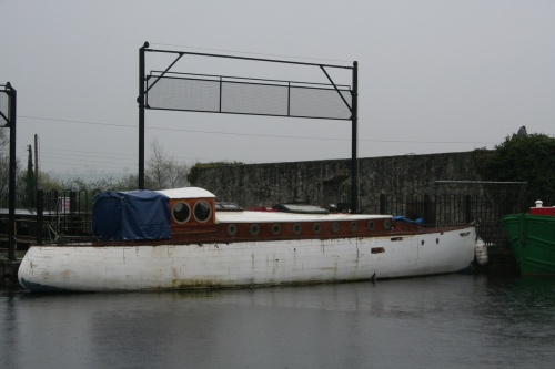 Long boat at Shannon Harbour