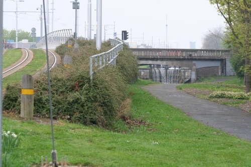 Looking back up under Suir Road Bridge