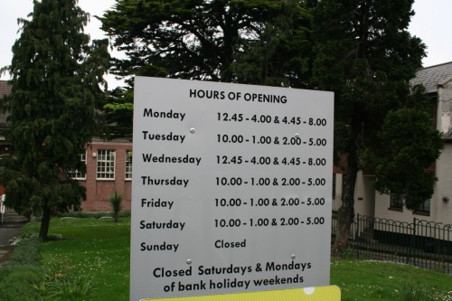 Library opening hours