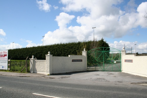 Looking south-west: the GAA grounds