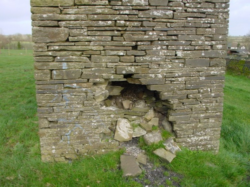 The stonework of the airshaft