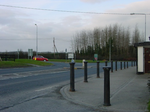 Newtown crossroads showing the R430 to Swan and Abbeyleix. Along that road, the first and second left turns go to Doonane