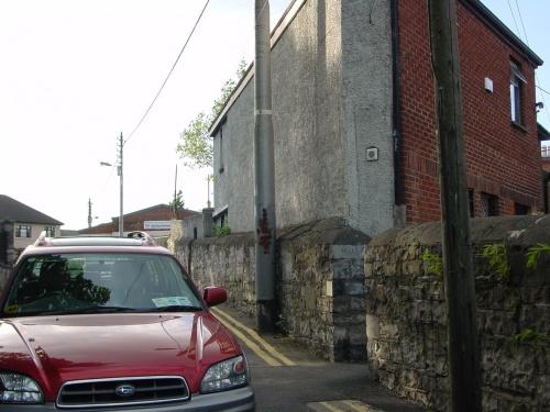 Landmark for pedestrian exit to Western Way