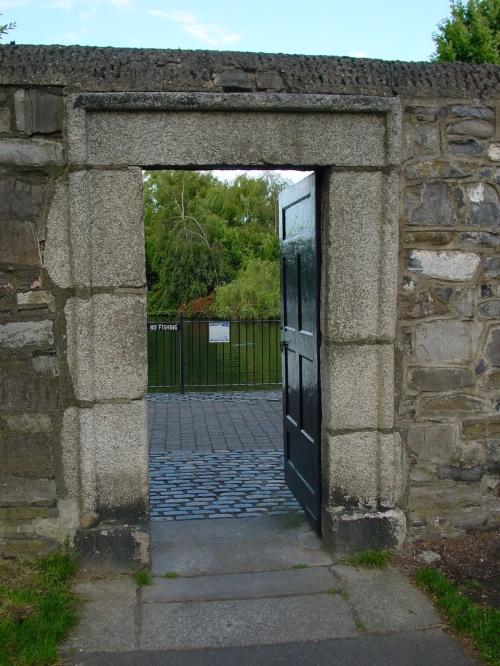The entrance to the Blessington Street Basin