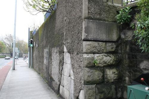 Stone beneath the pebbledash