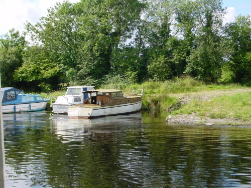 Wooden boat at Carrybridge on Lough Erne