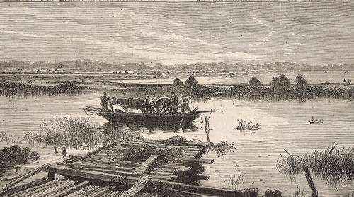 A somewhat larger Shannon boat from The Graphic 1879