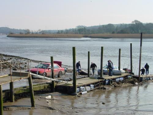 Boats coming ashore at Granny
