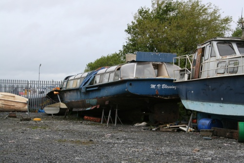 Retired trip boat at Banagher