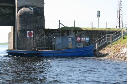 The ESB tug at Parteen Villa Weir