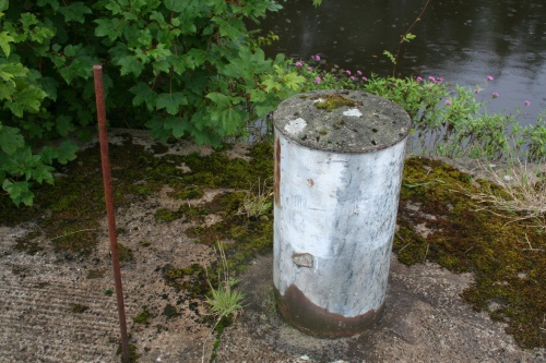 Close-up of a bollard