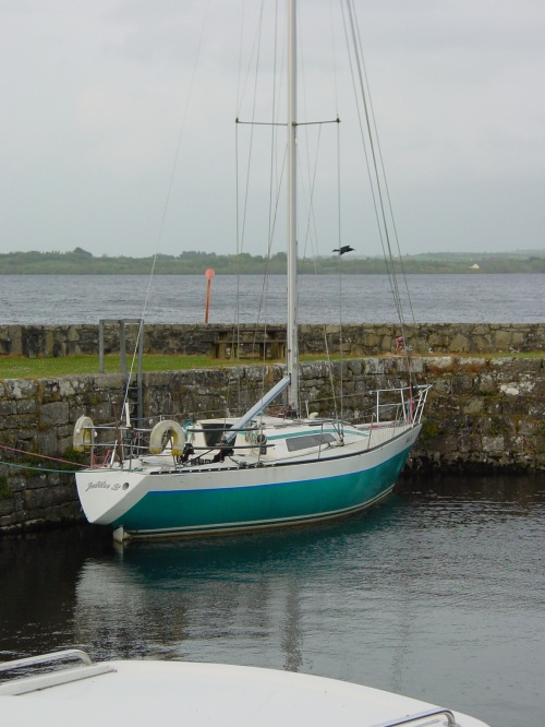 Jubilee B in the old harbour at Garrykennedy