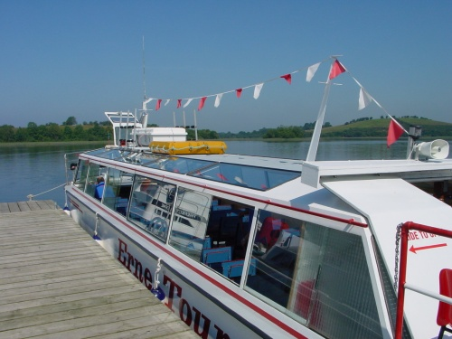 MV Kestrel at Devenish on Lough Erne