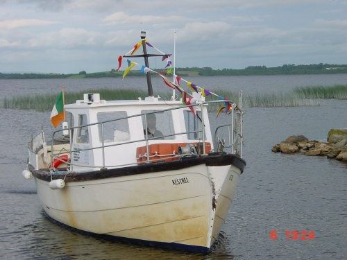 MV Kestrel on Lough Derg