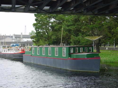 New-build barge in Athlone