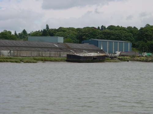 Pontoons like this were used in Waterford because it's so muddy along the quays
