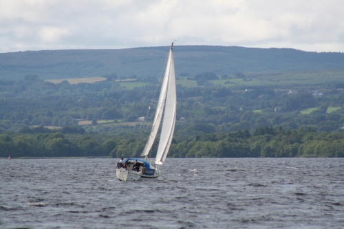 Salgazer heading west on Lough Derg