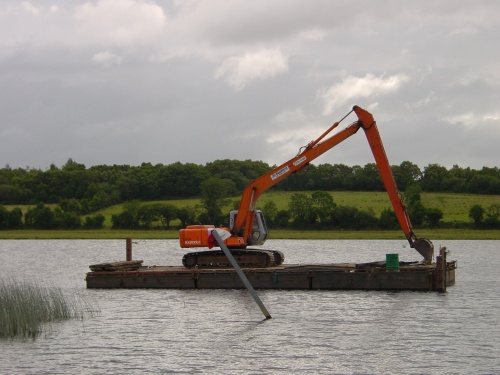Dredger on the Shannon–Erne Waterway