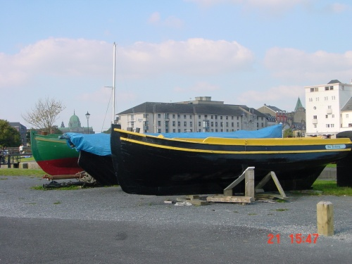 Traditional boat ashore