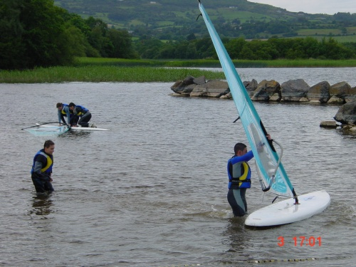 ULAC has a shallow area, ideal for learning windsurfing