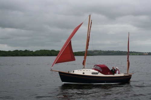 Unidentified yawl running up Lough Derg on the same day
