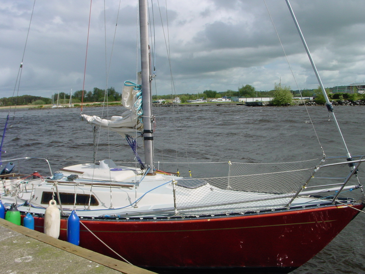 Lough Derg Yacht Club in Dromineer. Windy day in Dromineer