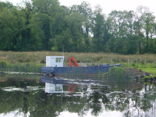 Unidentified workboat on the Erne