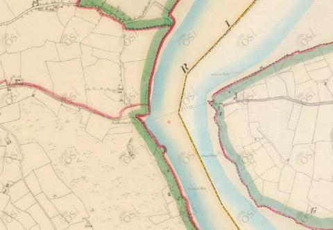 Ballinlaw ferry (OSI ~1840)