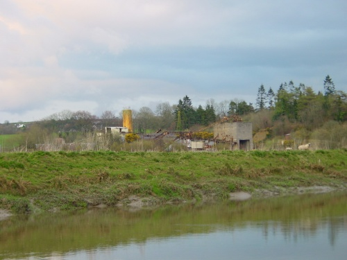 The old cement plant at Ballyanne around the bend