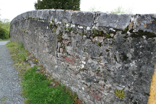 The parapet of the bridge