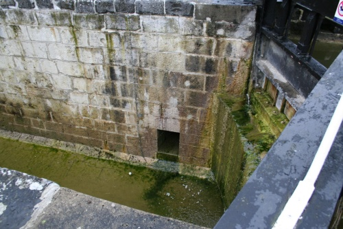 Where the land-rack sluice enters the lock
