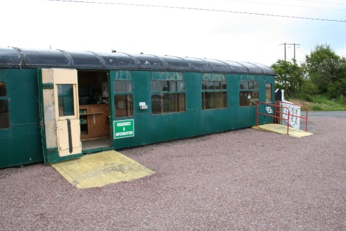 the entrance gates (right) and the refreshment carriage, with good coffee