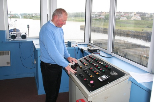 John Hehir at the controls