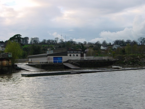 New Ross Boat Club on the west bank above the bridge