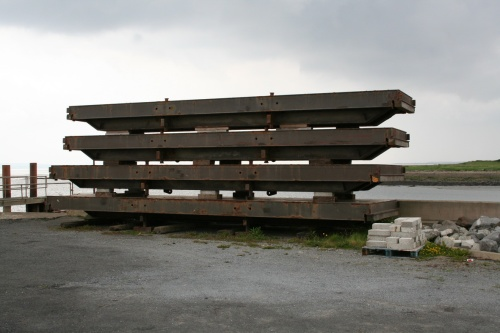 A pile of stop-planks