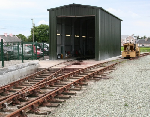 ... now covered by an engine-shed
